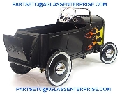 1932 ROADSTER DEUCE COUPE  BLACK WITH FLAMES